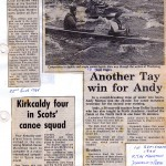 1985 Tay race press cuts